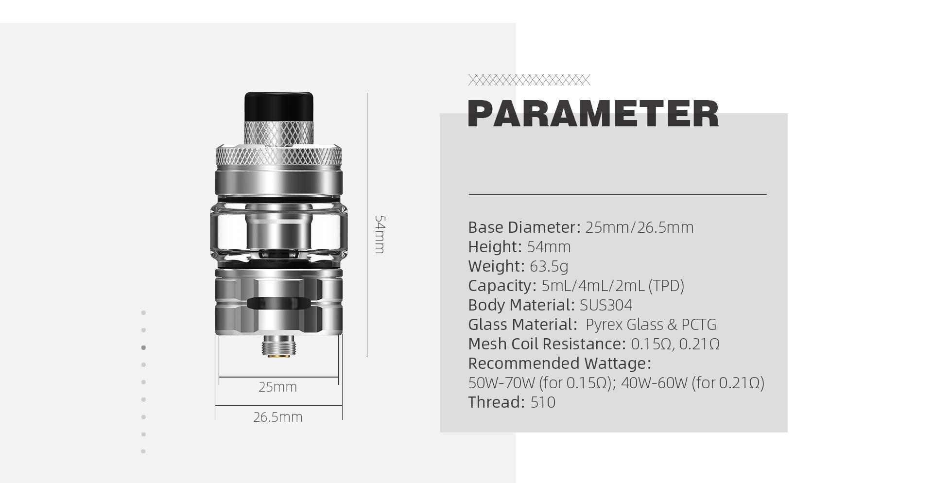 wirice launcher tank - parameter