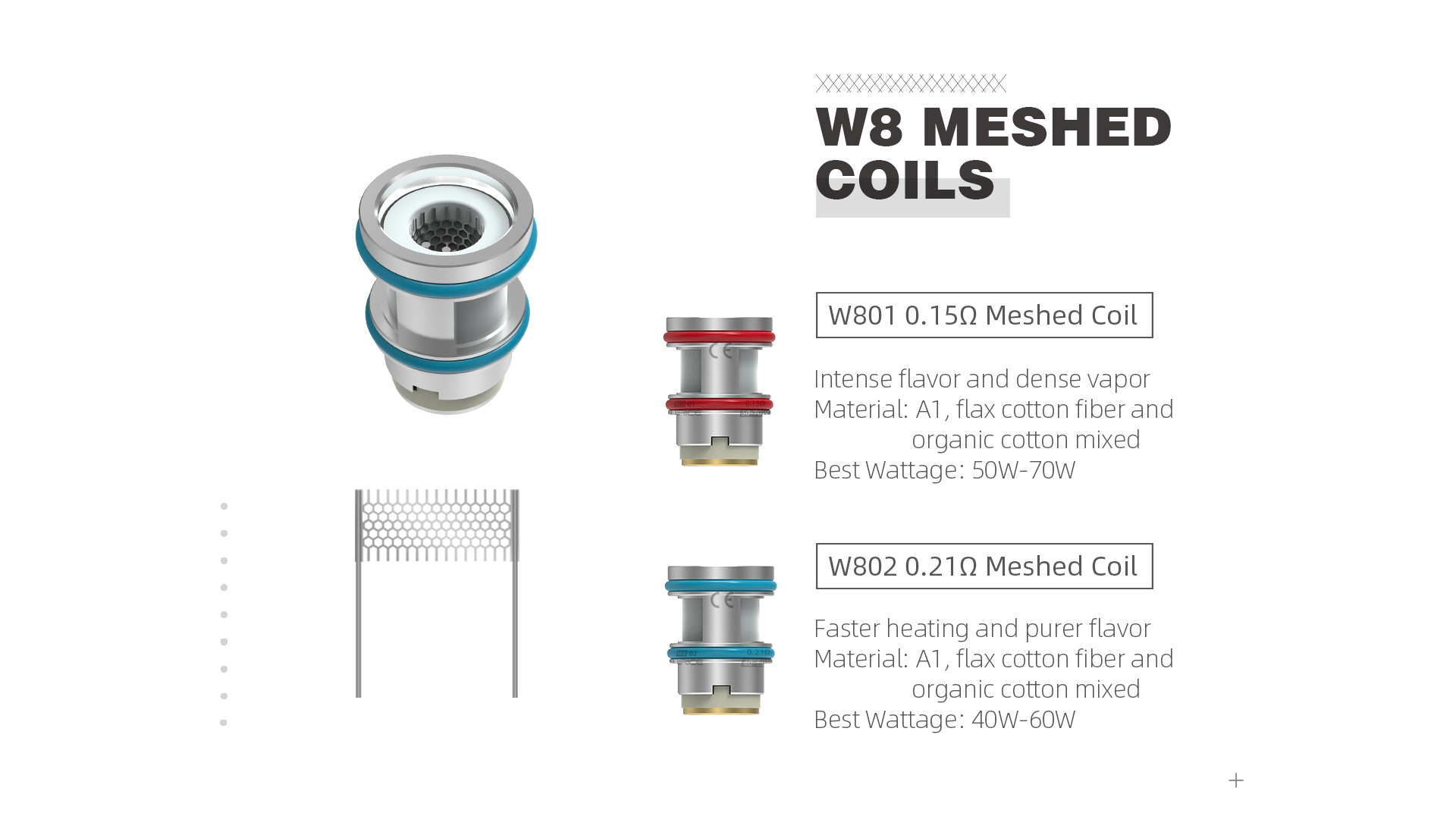 wirice launcher tank - w8 meshed coil